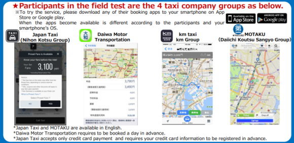 Tokyo's new pre-fixed taxi fare smartphone service reduces guess